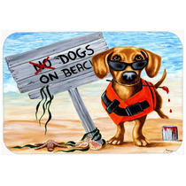 La Tabla De Cortar La Playa Del Perro Dachshund Gran Vidrio