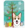 Árbol De Navidad Y Sable Corgi De Cristal Tabla De Cortar G