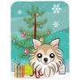 Árbol De Navidad Y Chihuahua Cristal Tabla De Cortar Grande