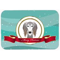 Saluki Feliz Navidad De Vidrio Tabla De Cortar Grande Bb1539