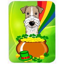 Cristal Día De Pelo Duro Fox Terrier St Patrick Tarjeta De
