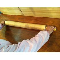 Rodillo De Madera Giratorio Para Amasar 58cm