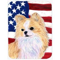 Bandera Americana Con Ee.uu. Chihuahua Cristal Tabla De Cort