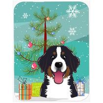 Árbol De Navidad Y De Montaña De Bernese Perro De Cristal