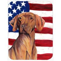 Bandera Americana Con Ee.uu. Vizsla De Cristal Tabla De Cort