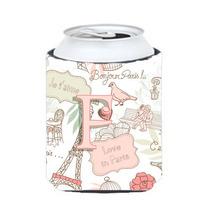 Letra F Amor En París Pink Lata O Una Botella De Hugger Cj2