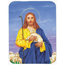 Jesús El Buen Pastor Que Sostiene Un Cordero De Cristal Tab