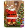 Navidad De Santa Por El Árbol De Cristal Tabla De Cortar Gr