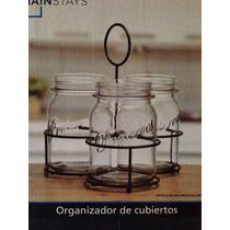 Escurridor De Trastes Para Cocina Utensilios Tipo Mason Jar