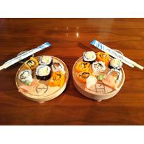 Tabla Madera Circular Plato Queso Picar Sushi Carnes 17cm