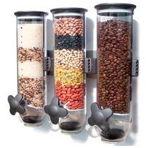 Dispensador Triple De Alimentos: Cereal, Semillas, Granos