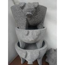Molcajete De Piedra Volcanica 8 Pulgadas (20.5cm)
