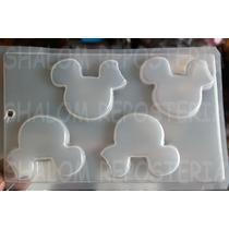 *molde Mediano Para Gelatinas Gomita Siluetas Mickey Mouse 2