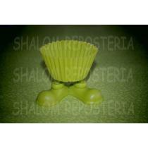 *molde Capacillo Silicon Piecitos Verde Limon Cupcak Fondant
