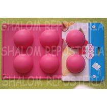 *molde Silicon 6 Media Esferas Med Gelatina Choco Jabon*