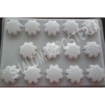 *molde Mediano Gelatinas Gomitas 14 Copos De Nieve Frozen*