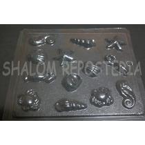 *molde Chocolate Jabon 13 Figuras De Mar Concha Caracol*
