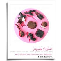 Molde Silicón Halloween Fondant Pasta Flexible Cupcake #765