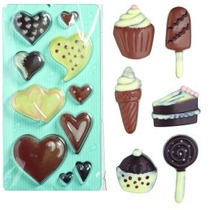 Bandeja Molde Dulce - Corazones Y Trata Temáticas Chocolate