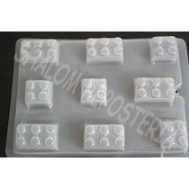 *molde Mediano Gelatinas Gomita 9 Bloques Lego Varios*