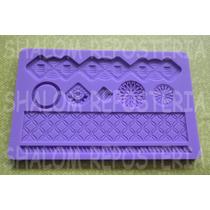 *molde Silicon Cenefas #3 Vitrales Botones Isomalt Fondant*
