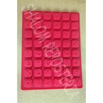 *molde Silicon Cuadros Abecedario Chocolate Gelatina Fondant