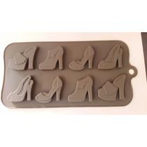 Molde De Silicon Para Chocolates En Forma De Zapatillas