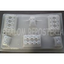 *molde Mediano Gelatinas Jabon 6 Piezas Bloques Lego Varios*