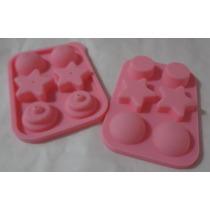 Mini Molde De Silicón Para Popcakes Figuras Varias