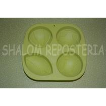 *molde Silicon 4 Balones Soccer Basket Beisbol Americano Pan