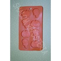 *molde Silicon 8 Figuras Varias Halloween Chocolates Jabon*