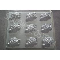 *molde Chocolate 9 Tortugas Yeso Jabon Gomita*