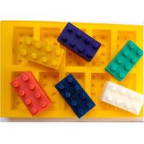 Molde Silicón Lego Bloques, Robot Hielo, Gelatina, Chocolate