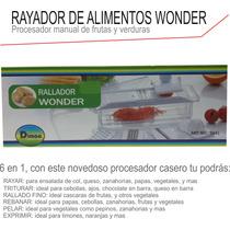 Rayador Alimentos Procesador Manual Frutas Verduras 6 En 1