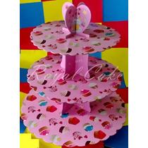 Base De 3 Niveles Muffin,cupcake,mantecadas,carton Reforzado