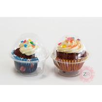 100 Mini Vasos Con Domo Cupcake Hecho Con Capacillo #69ó#4