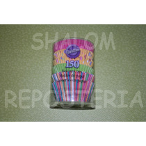 *kit 150 Capacillos Wilton Carnaval Cupcake Fondant Royal*