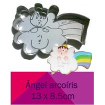 Cortadores De Galleta Angel Con Arcoiris Bautizo