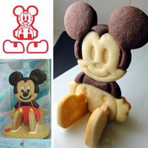 Cortador Mickey Mouse 3d D Galletas Fondant Pan Chocolate