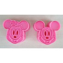 2 Cortadores Galletas Mickey Minnie Pan Pasta Fondant Mimi