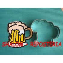 *cortador De Galletas De Tarro Cerveza ,royal Icing ,fondant