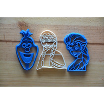 Kit Cortadores Galleta Frozen