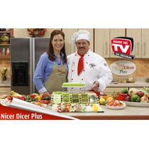 Nicer Dicer Plus Anunciado En Tv Con Navajas Inoxidables Rm4