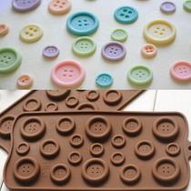 Molde Silicon Para Fondant, Pasta Flexible En Forma De Boton