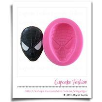 Molde Silicón Spiderman Hombre Araña Fondant #1349