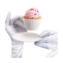 Set De 4 Tazas De Silicon Horneable Para Cupcakes Y 4 Platos