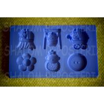 *mini Molde Tipo Silicon Baby Shower M3 Cupcake Fondant*