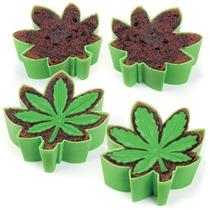 4 Moldes Para Cupcakes En Forma De Hoja Diseño Divertido
