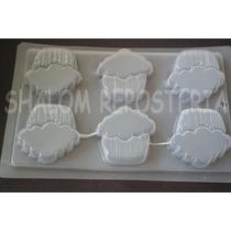 *molde Mediano Gelatinas Jabones 6 Cupcakes Capacillo*