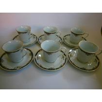 Juego De Tazas Para 6 Delicado Diseño Porcelana China Hm4